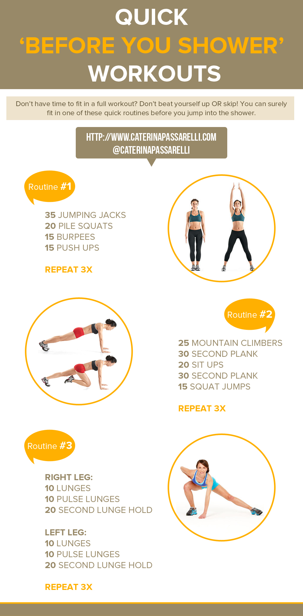 Workout Guide You Shower Workouts Guide